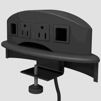 Buy Now | Conference Table Switch Box → Edge Mount. 2 AC + 2RJ45 #1