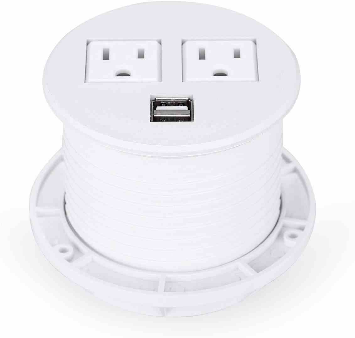 🥇 Desktop Power Outlet Grommet Hub 2 Power Socket 🥇 #1