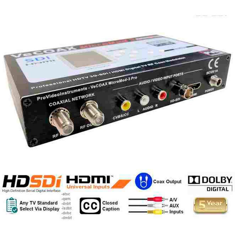 Broadcast 3G SDI HDMI AV Modulator to distribute HD Video Over coax with real time perfect quality